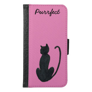 Black Cat Galaxy S6 Wallet Case