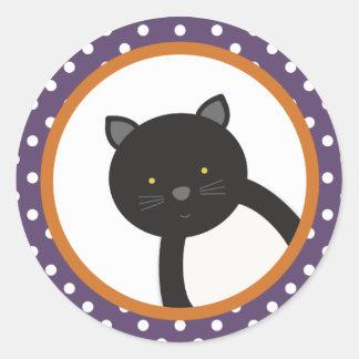 Black Cat   Halloween Stickers