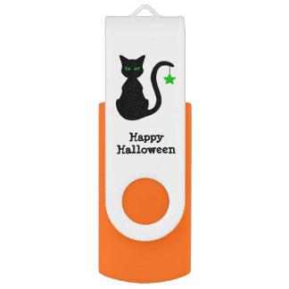 Black Cat Halloween USB Flash Drive