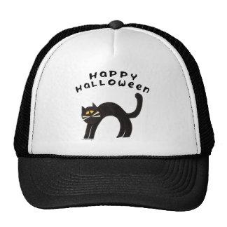 Black Cat Happy Halloween Cap