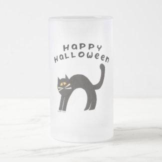 Black Cat Happy Halloween Coffee Mugs