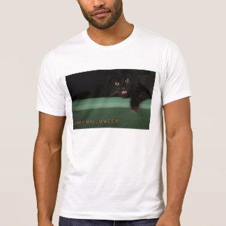 Black Cat Happy Halloween T-Shirt