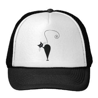Black Cat Mesh Hats