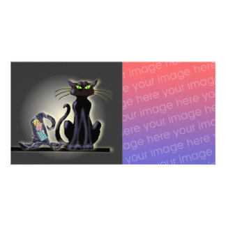 BLACK CAT & HAT by SHARON SHARPE Photo Cards