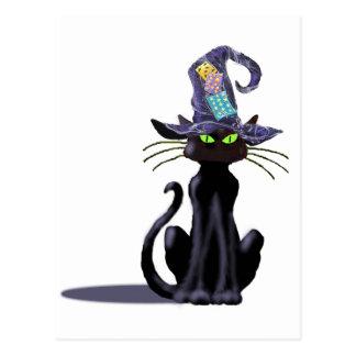 BLACK CAT & HAT by SHARON SHARPE Postcards