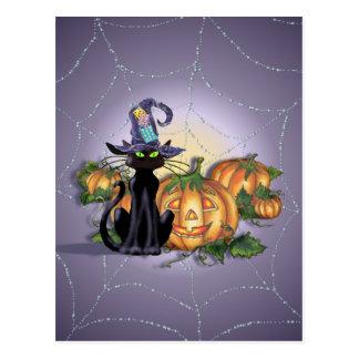 BLACK CAT, HAT & JACK by SHARON SHARPE Post Cards