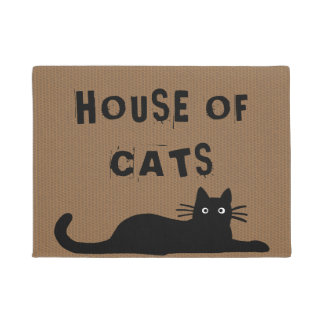 Black Cat - House of Cats - Custom Text Doormat  sc 1 st  Zazzle UK & Cat Doormats \u0026 Welcome Mats | Zazzle.co.uk