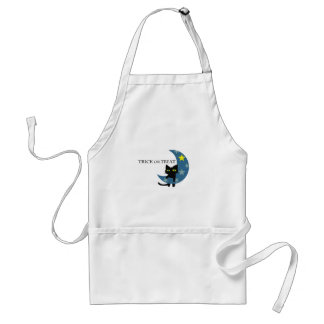Black Cat Hunging the Blue Moon Standard Apron