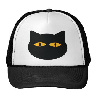 black cat icon hat