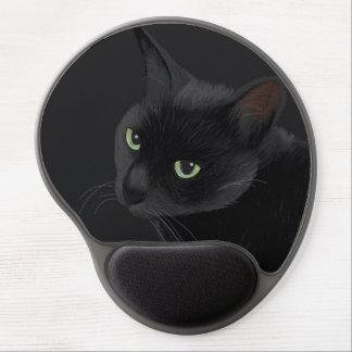 Black cat in the dark gel mouse pad
