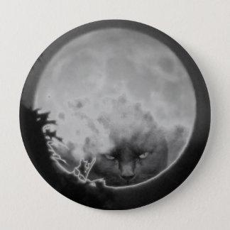 Black Cat in the Full Moon Flair 10 Cm Round Badge