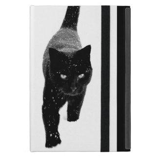 Black Cat in the Snow - iPad Mini Cover