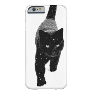 Black Cat in the Snow - iPhone 6 Case Barely There iPhone 6 Case