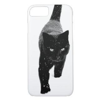 Black Cat in the Snow - iPhone 7 Case