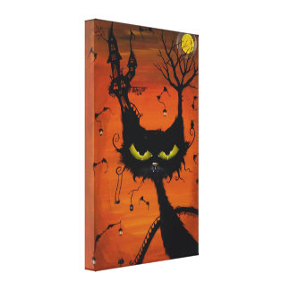 Black Cat Inn wrapped canvas Canvas Prints