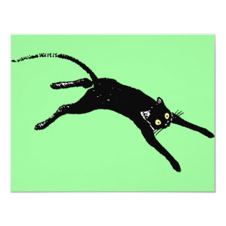Black cat invitation card