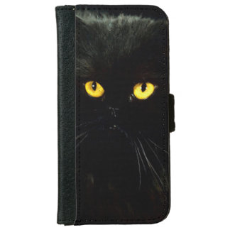 Black Cat iPhone 6 Wallet Case