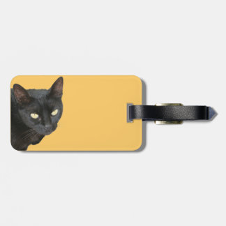 Black Cat Isolated Luggage Tag