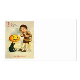 Black Cat Jack O Lanter Pumpkin Girl Pack Of Standard Business Cards