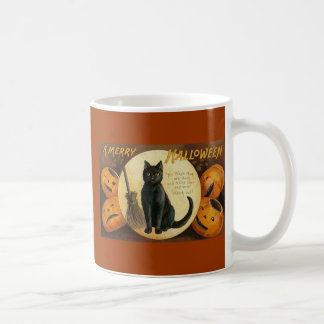 black cat & jackolanterns coffee mug
