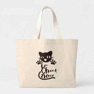 Black_Cat Jumbo Tote Bag