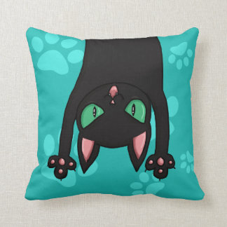 Black Cat jumping out Cushion