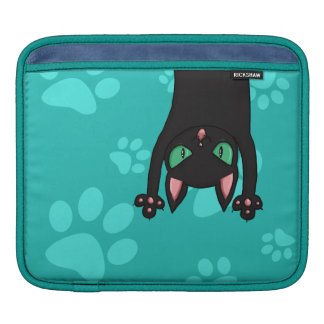 Black Cat jumping out iPad Sleeve