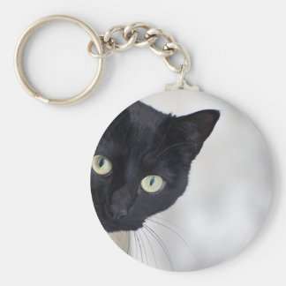 Black Cat Key Ring