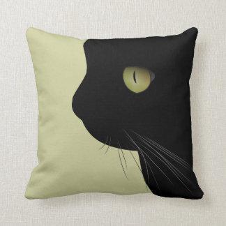 Black Cat Kitty Pillow