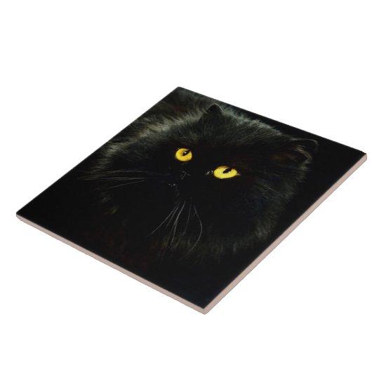 Black Cat Large Square Tile