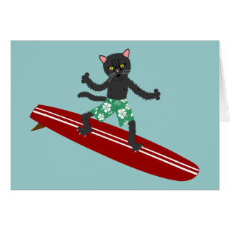 Black Cat Longboard Surfer Card