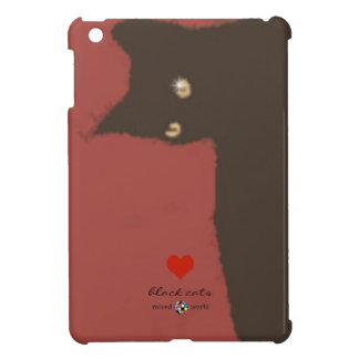 black cat, love cats cover for the iPad mini