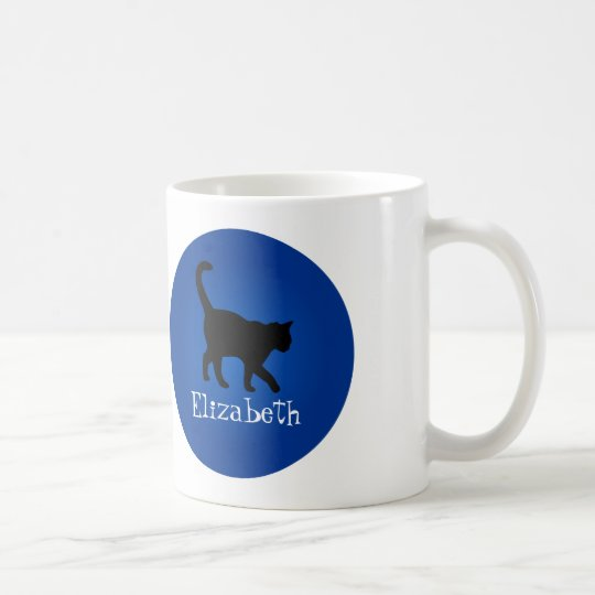Black Cat Lover - My Name Coffee Mug