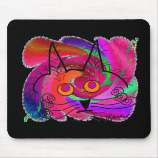 Black Cat Lovers Art Gifts Mouse Pads