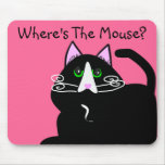 Black Cat Lovers Art Gifts Mousemats