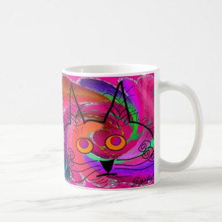 Black Cat Lovers Art Gifts Basic White Mug