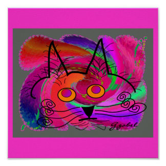 Black Cat Lovers Art Gifts Poster