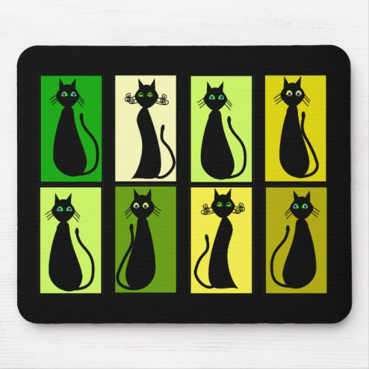 Black Cat Lovers Gifts Mouse Mat