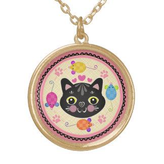 Black Cat Lover's Kitty Art Necklace