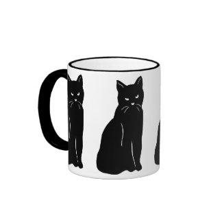 Black cat lover's mug