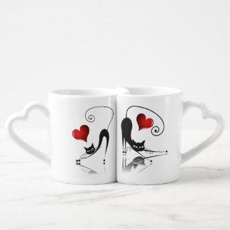 Black Cat Lovers' Mug Set - 2 Lovers Mug
