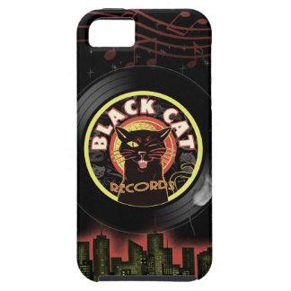 Black Cat LP Art Deco iPhone 5/5S Case