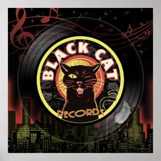 Black Cat LP Art Deco Poster