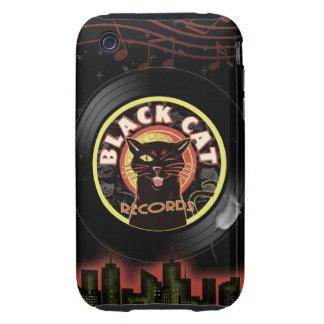 Black Cat LP Art Deco Tough iPhone 3 Cases