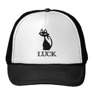 Black Cat Luck Trucker Hats