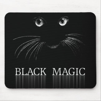 Black Cat Magic Mouse Pad