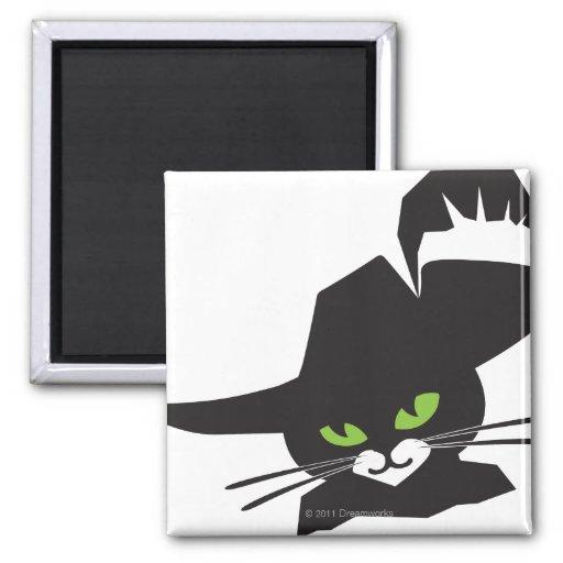 Black Cat Refrigerator Magnets