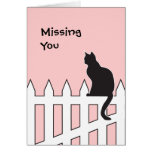 Black Cat Missing You Please Come Home Soon