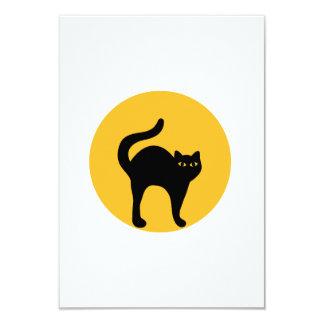 """Black cat moon 3.5"""" x 5"""" invitation card"""