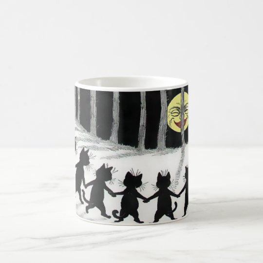 Black Cat Moon Gift Mug